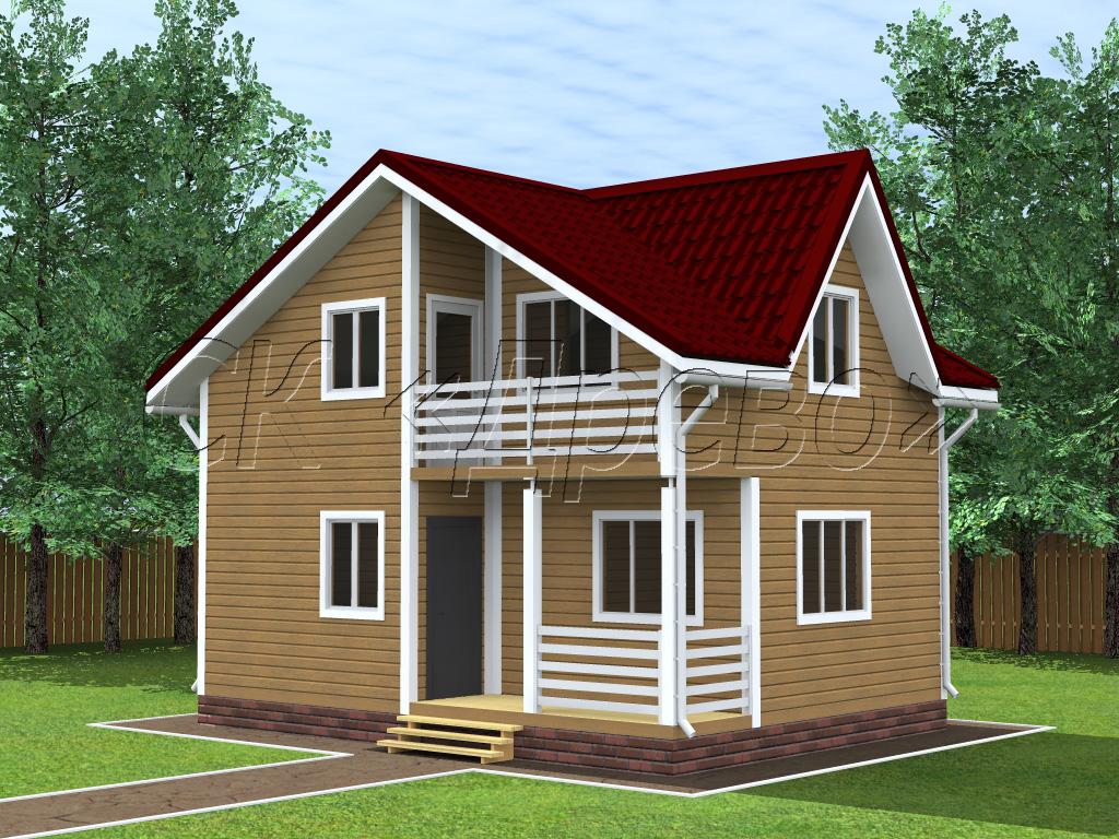 Дом 4 на 6 двухэтажный