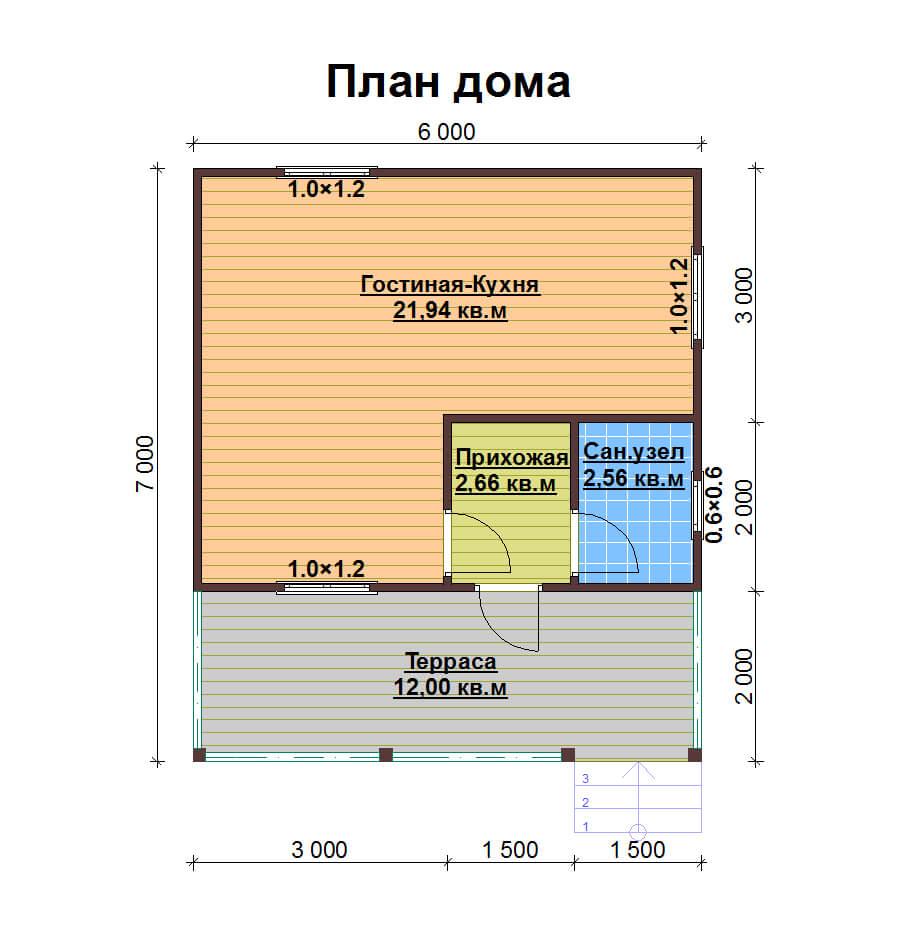 Дома проекты одноэтажные своими руками 51
