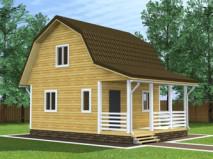 Проекты дачных домов с мансардой фото
