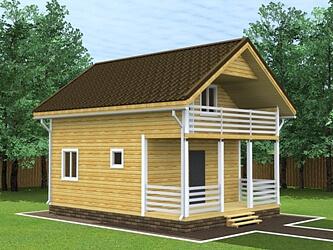 Дом 6 на 8 двухэтажный из бруса.
