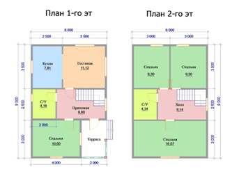 Проекты домов 6 на 10 из пеноблоков. Дом 6х10 м из пеноблока | 250x333