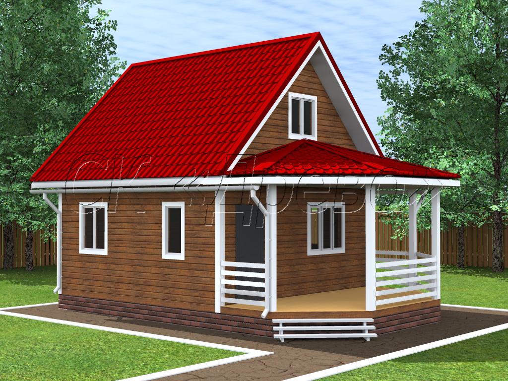 Проект дома эконом класса 6 на 9